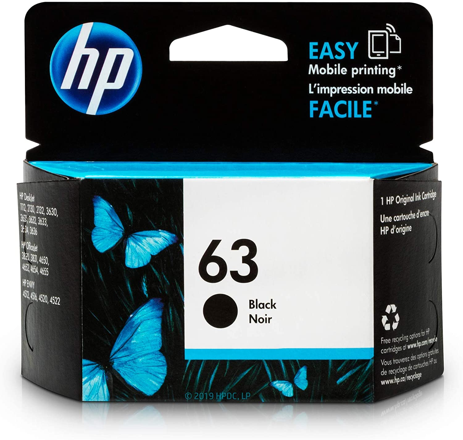 HP 63 Ink Kartuş Black - F6U62AN