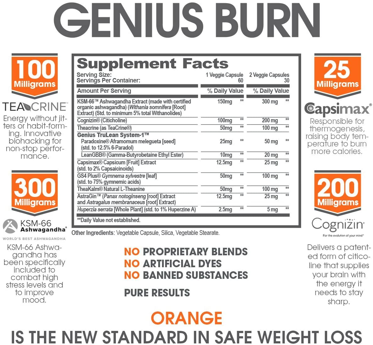 The Genius Brand - Genius Burn - 60 Tablet