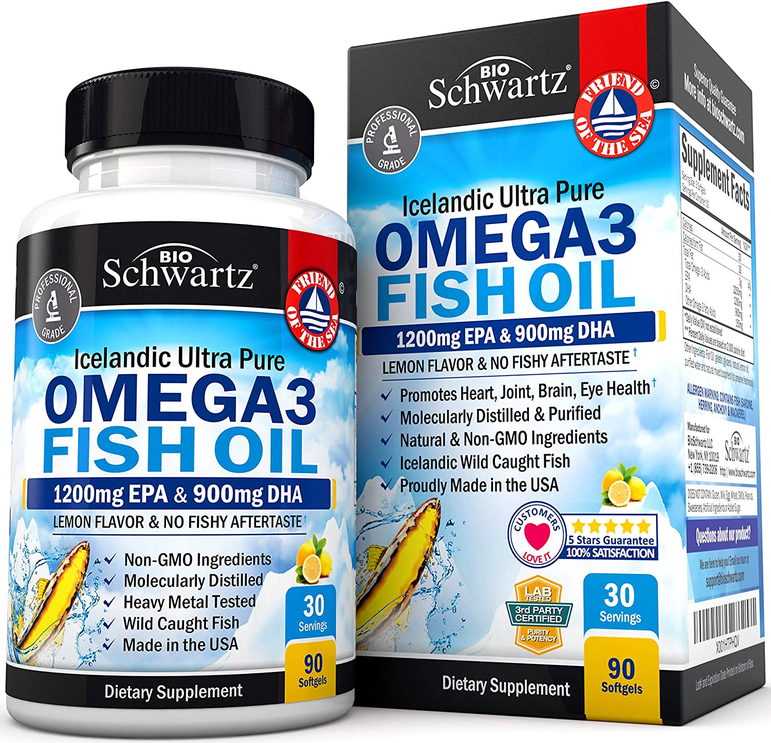 Omega 3 Fish Oil Supplement - 90 Tablet