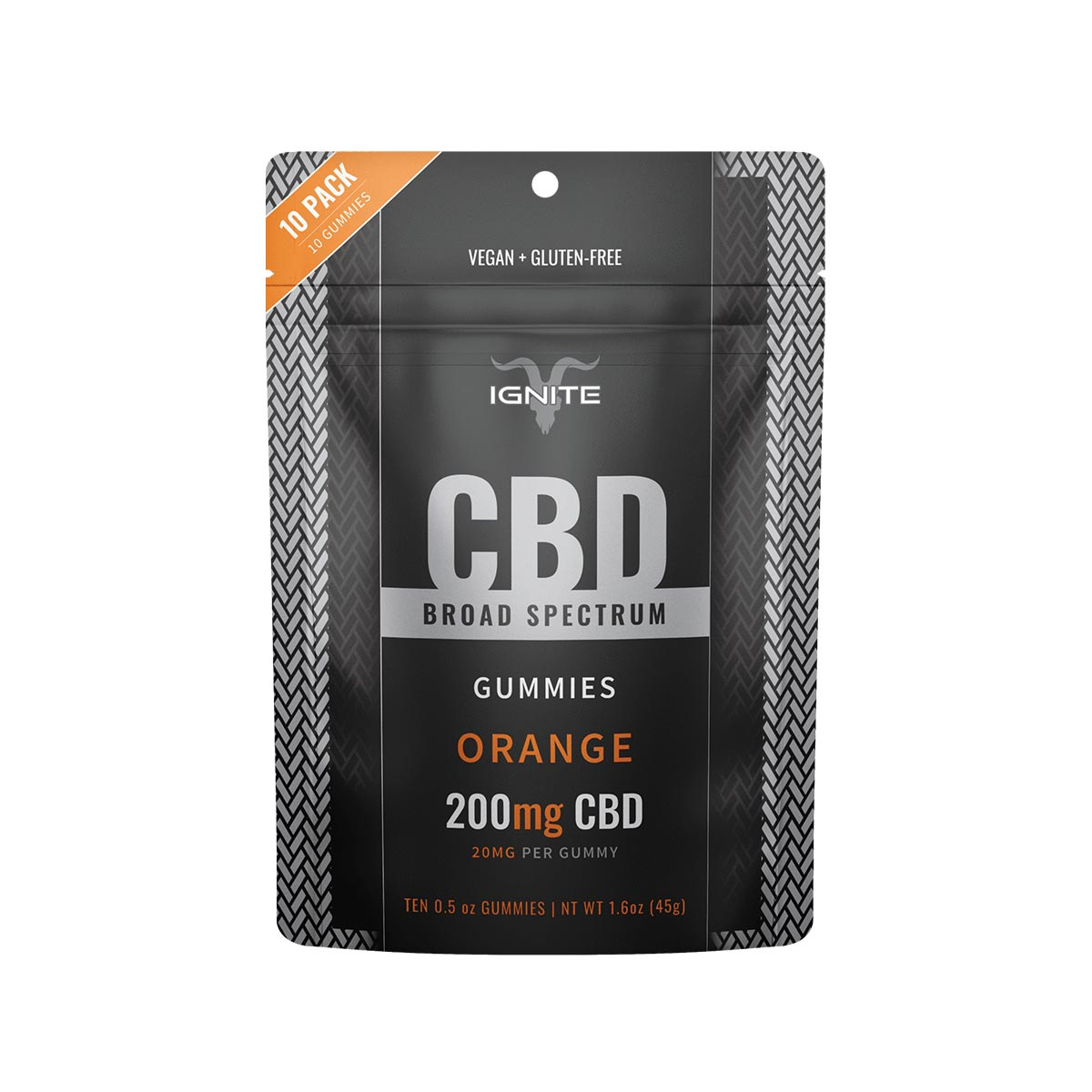 200mg Broad Spectrum CBD Gummies - 10 Adet