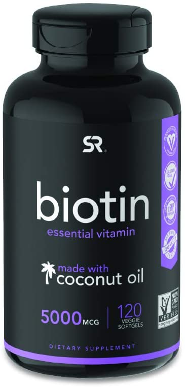 Biotin (5,000mcg) with Organic Coconut Oil