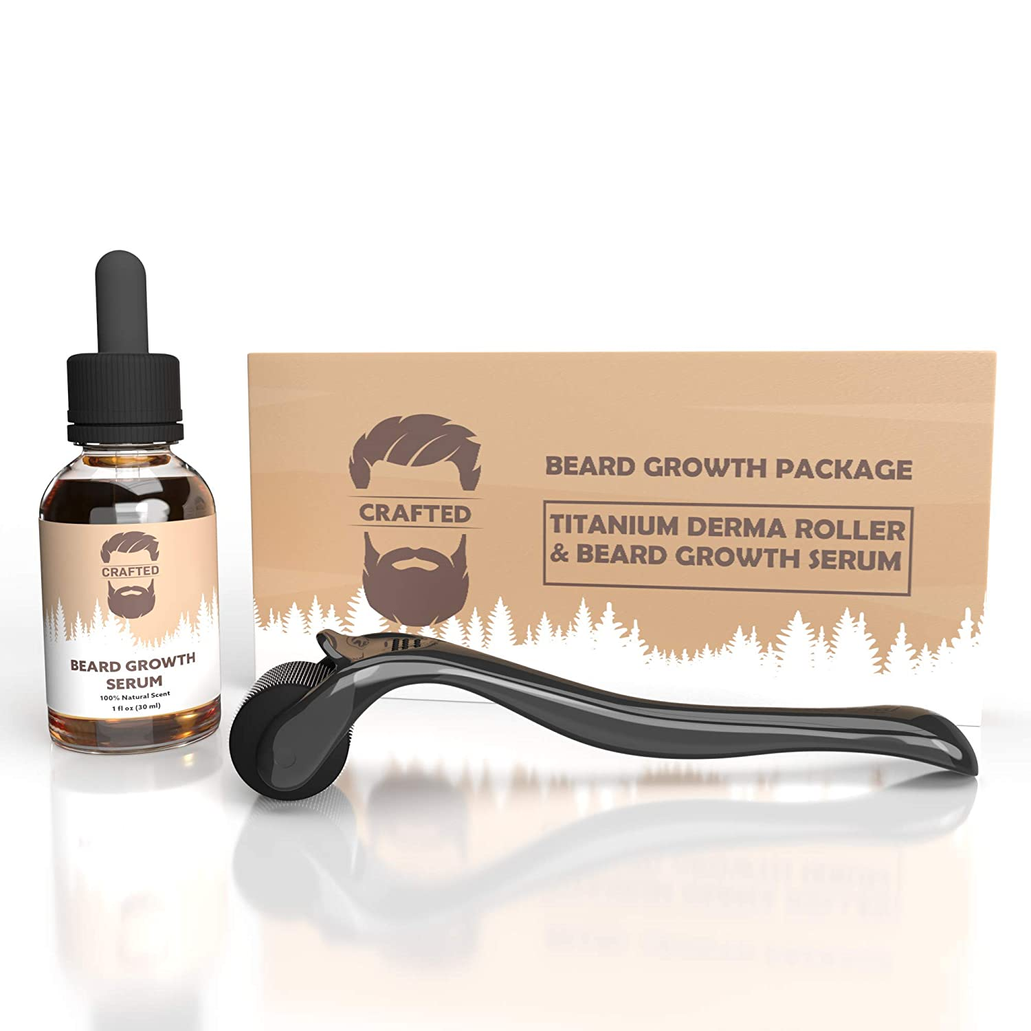 Beard Growth Kit - Derma Roller for Beard Growth and Beard Growth Serum