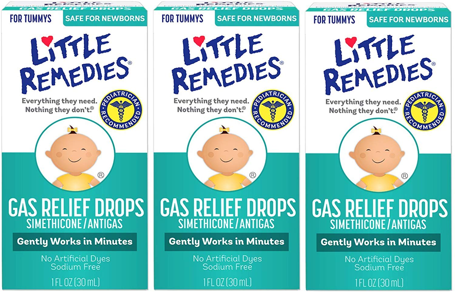 Little Remedies Gas Relief Damla - 3'lü paket