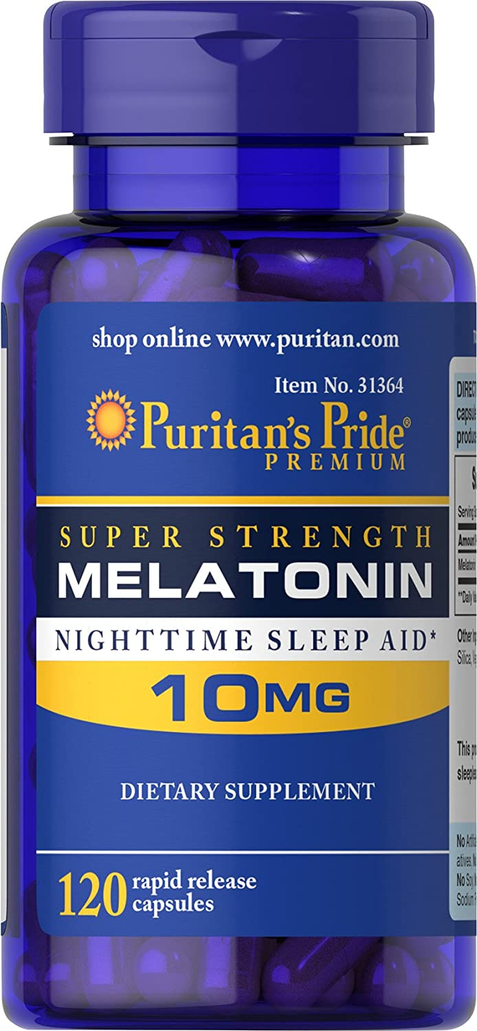 Puritan's Pride Melatonin 10 Mg - 120 Tablet
