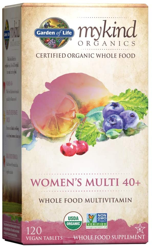 Garden of Life Mykind Organics Vitamins for Women 40 Plus - 120 Tablet