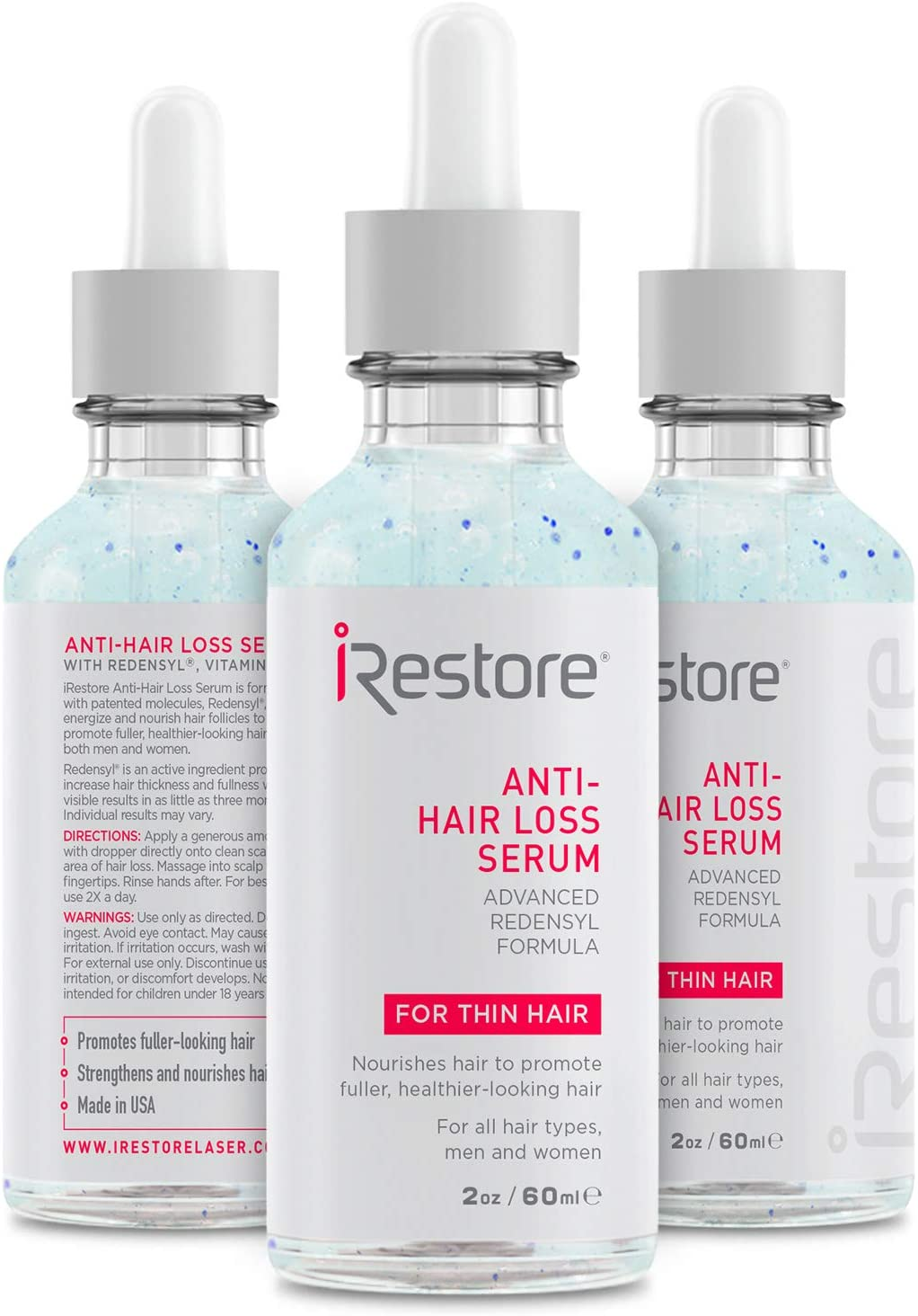 iRestore Anti-Hair Loss Serum - 2oz / 60ml - 3'lü Paket