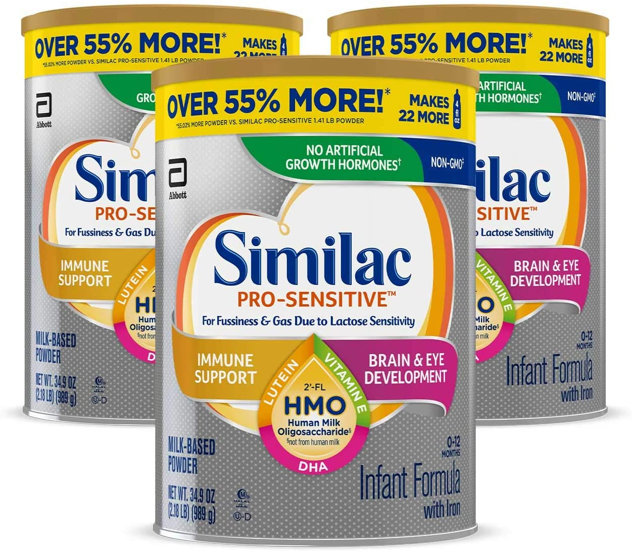 Similac Pro-Sensitive Non-GMO Infant Formula 34.9 Oz - 3 Kutu