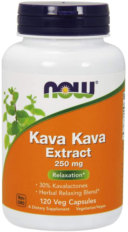 NOW Supplements, Kava Kava Extract 250 mg - 120 Tablet