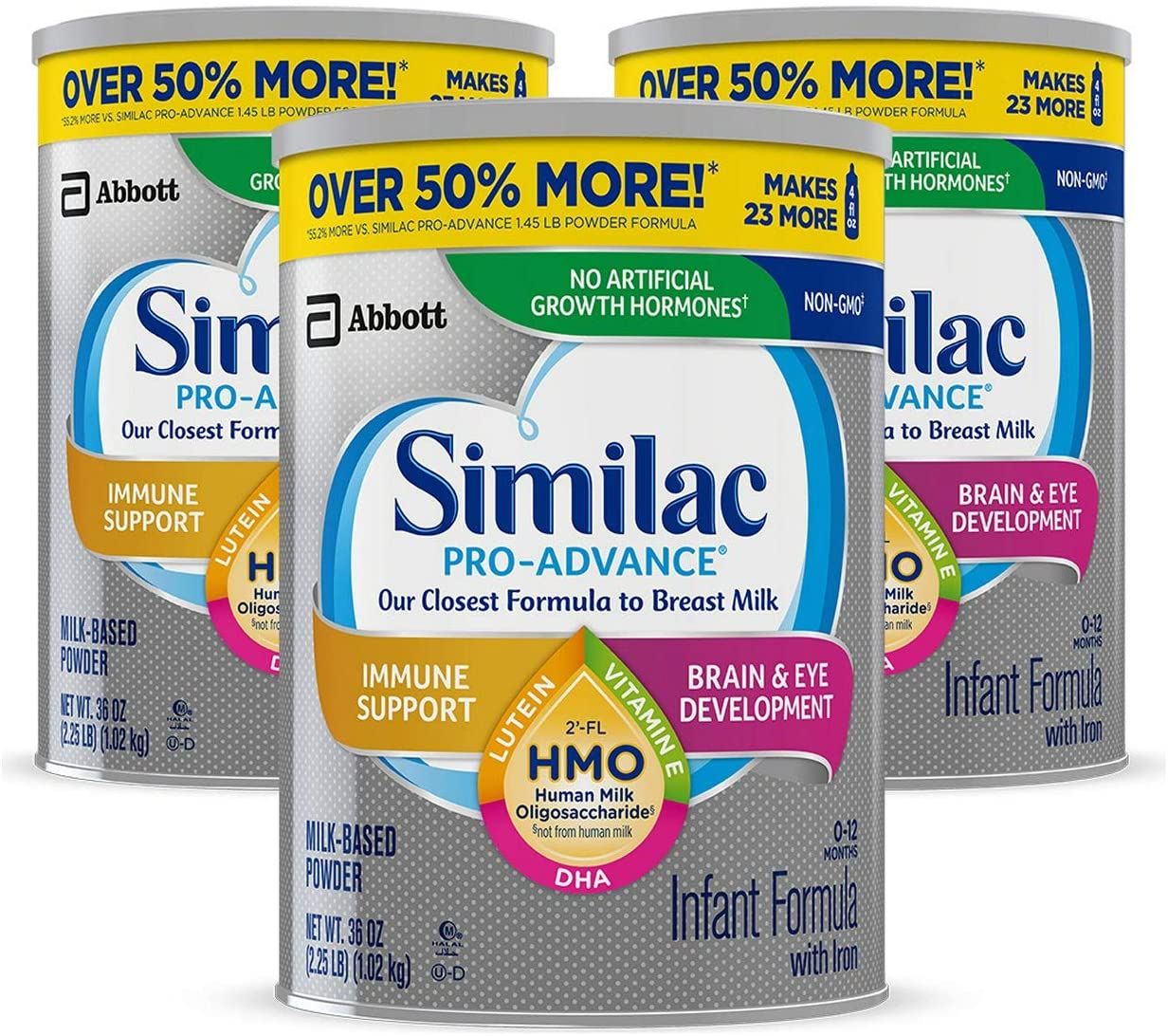 Similac Pro-Advance Infant Formula 36 Oz - 3 Kutu