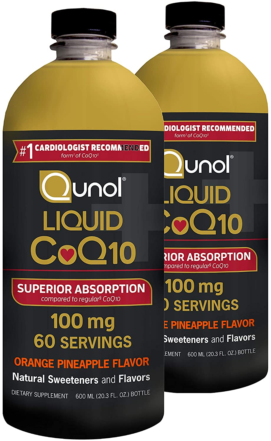 Qunol Liquid CoQ10 100mg 20.3 oz - 2'li Paket