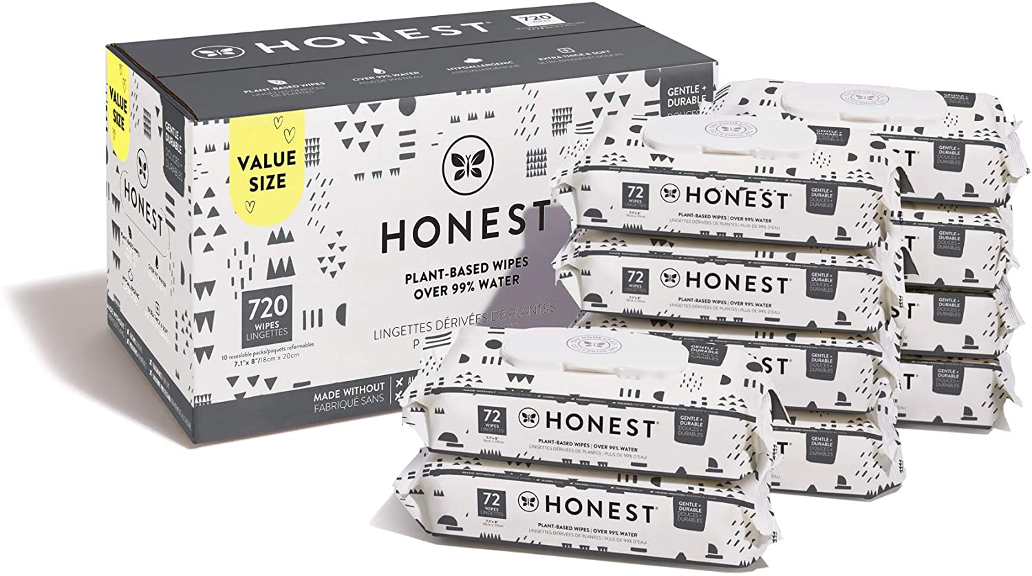 The Honest Company Baby Wipes - 720 Adet