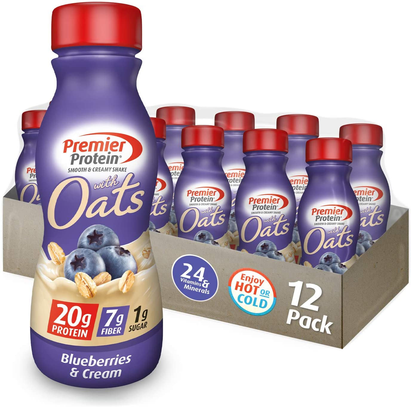 Premier Protein 20g Protein Shake with Oats, Blueberries and Cream - 12'li Paket