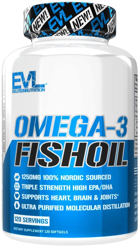 Evlution Nutrition Omega 3 Fish Oil 1250mg