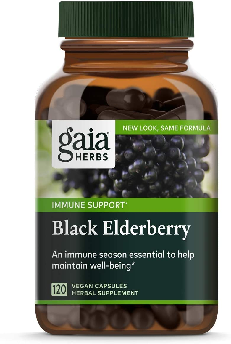 Gaia Herbs Black Elderberry - 120 Tablet