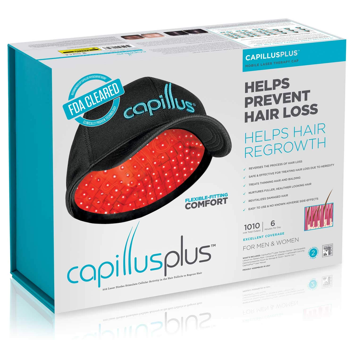 CapillusPlus Mobile Laser Therapy Cap for Hair Regrowth