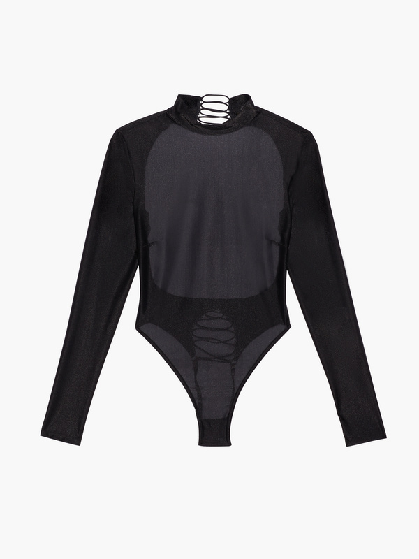 Savage Not Sorry Long-Sleeve Open-Back Glissenette Teddy