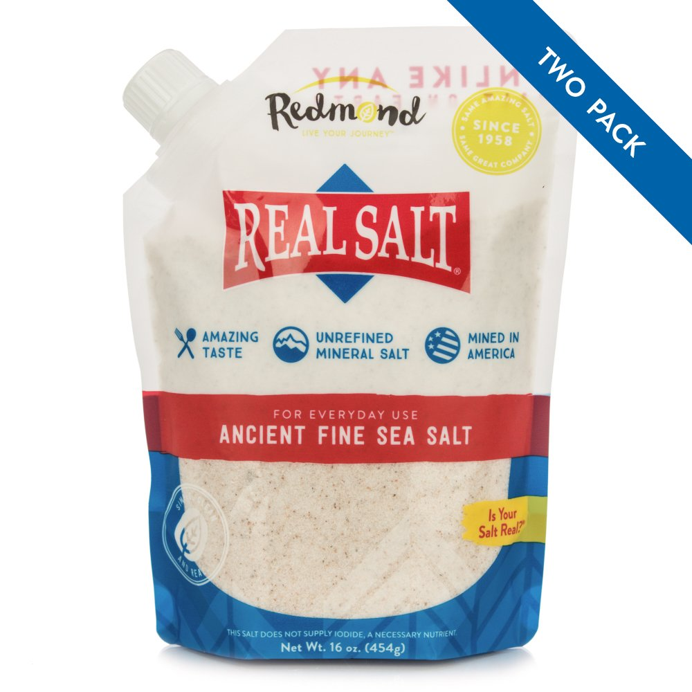 Redmond Real Salt - Ancient Fine Sea Salt - 16 Ounce